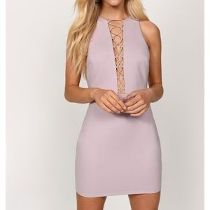 Mauve Lace Up Bodycon new w/ tags